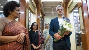 Mayor of London Sadiq Khan visits Mani Bhavan, the residence of Mahatma Ghandi in Mumbai, India