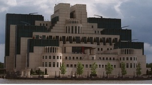 MI6 headquarters on the River Thames, London