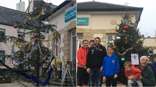 Ottery St Mary residents replace 'worst Christmas tree in Devon'