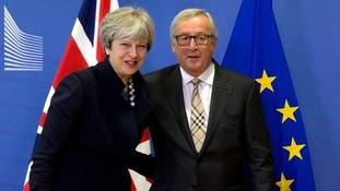 The PM is meeting European Commission president Jean-Claude Juncker.