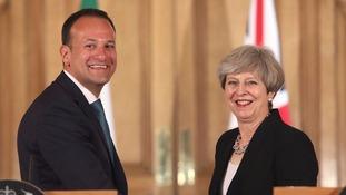 Irish Prime Minister Leo Varadkar with British PM Theresa May