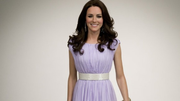 A wax doll of the Duchess of Cambridge