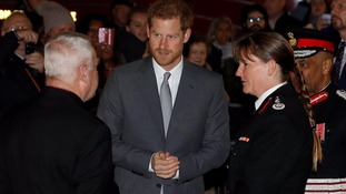 Prince Harry attends the London Fire Brigade Carol Service at Westminster Cathedral.