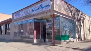 '7-Eleven' shop near Khan's home in the West Rogers Park neighbourhood