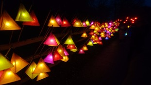 Lanterns waiting to be picked up by walkers