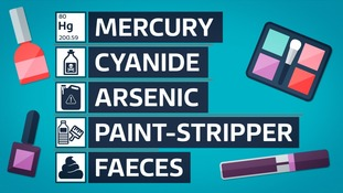 Just some of the harmful ingredients found in fake makeup.