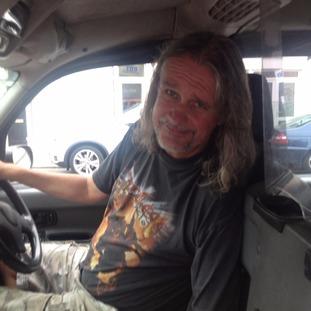 Carl O'Brien in his black cab