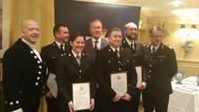 Five of the nine recipients attended this evening and received their awards