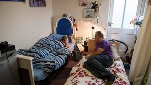 Shandor and his son Billy share a single room in temporary accommodation