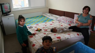 Sarah*, 40, was living in one room with her family, including her three-month old baby
