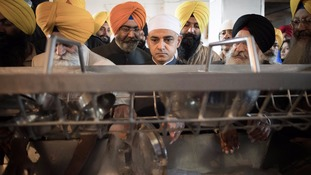 Sadiq Khan visits the Golden Temple in Amritsar in India where he met religious leaders