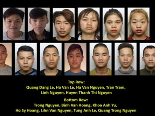 The 13 missing teenagers.