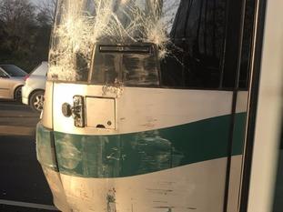 Tram derailed