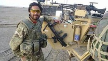 Hafizzulah Husseinkhel, 26, worked with the armed forces in Afghanistan as an interpreter between 2008 and 2012