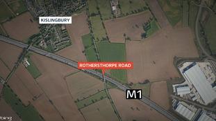 Four hurt in M1 crash