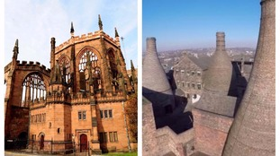 Coventry Cathedral and the potteries in Stoke-on-Trent