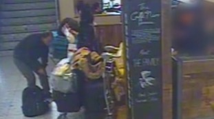 CCTV image of bag being stolen