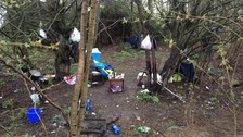 A migrant camp has been set up in Northampton