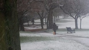 The Anglia region has already has a taste of winter with this snow in Lowestoft, Suffolk at the end of November.
