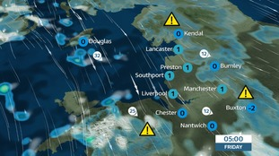 Thursday night - Snow showers initially and then a risk of ice