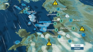 Snow showers for the SW of the regions.  Cold, frosty, sunny & icy further north and east