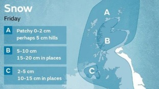 Met Office snow risk into Friday