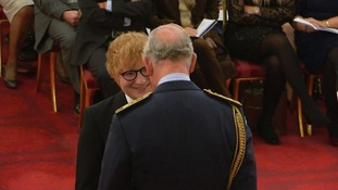 Suffolk born superstar Ed Sheeran awarded MBE