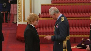 His MBE was awarded by Prince Charles.