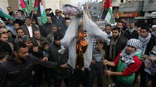 Gaza man shot dead as hundreds in West Bank protest over Trump's Jerusalem decision