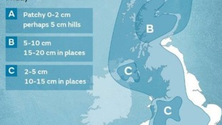 Snow risk in the west for us as we head into Friday