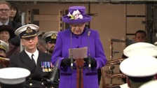 Royal approval for HMS Queen Elizabeth
