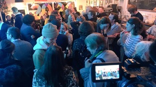 People gathered at Pop Recs in Sunderland to hear the news.