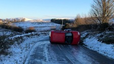 Hazardous driving conditions see roads closed in Cumbria