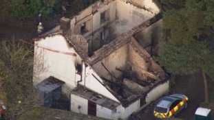 Three children killed in Powys fire named by police