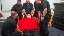 Big Barry teaches fire crews how to rescue obese people