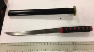 Samurai knife find prompts police warning to festive shoppers