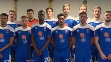 Cheltenham Town to wear blue for the very first time.