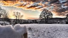 Sunrise in Bishops Castle Shropshire