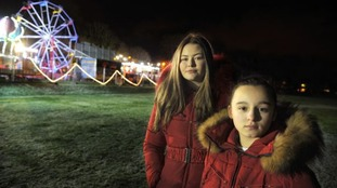 Lauren O'Donnell, 16, and Lily Owen, 11, were on the big wheel when the dramatic incident unfolded