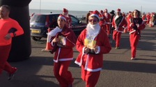 Dozens of Santa's make a dash for charity