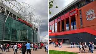 Old Trafford and Anfield