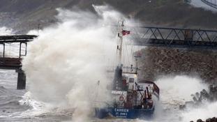 Cargo ship ran aground