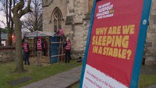 Volunteers take part in annual advent sleep out