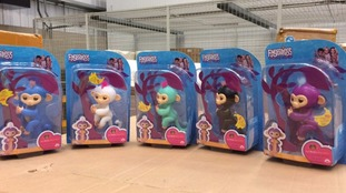 The fake toys were seized at Heathrow Airport.