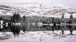 snow on the Brecon Beacons