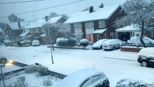 Travel delays hit the Anglia region as heavy snow sweeps in