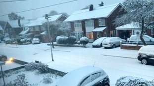 People have been taking to social media to post picture of snow in their area: this is Bedford.