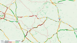 There are delays on many major roads across the west of the Anglia region.