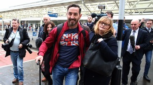 Billy Irving arrived back home in Scotland on Wednesday.
