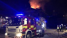 Large fire at disused Hartlepool nightclub